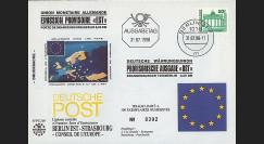 PE219 : 1990 - FDC 1er Jour '1er TP Est-allemand en Nouveau Mark'