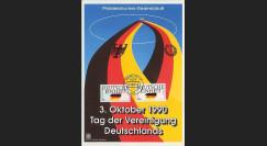 PE220F : 1990 : Document 1er Jour TP 'Unité allde' - 'Réunification allde'