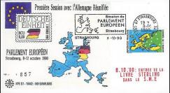 PE217 : 1990 - FDC '1ère Session du PE avec Allemagne réunifiée'