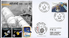 V187L-T1 : 2009 - FDC Kourou Vol 187 Ariane 545 - Hotbird 10
