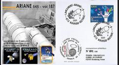 V187L-T2 : 2009 - FDC Kourou Vol 187 Ariane 545 - Hotbird 10