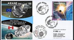 V188L-T2 : 2009 - FDC Kourou Vol 188 Ariane 546 - sat. Planck & Herschel