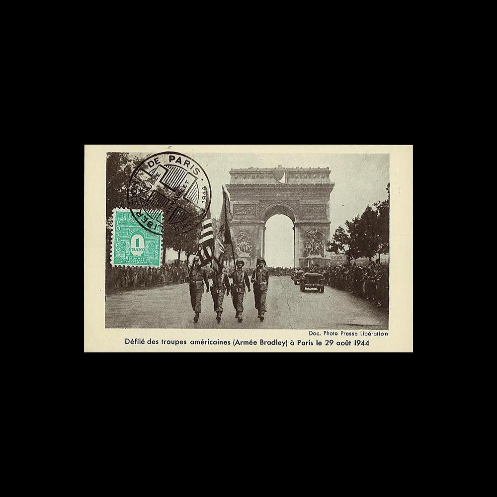 W2-FR624-C1 : 1944 - CM 'Libération de Paris' TP YT 624