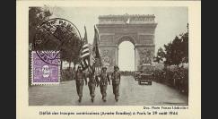 W2-FR626-C1 : 1944 - CM 'Libération de Paris' TP YT 626