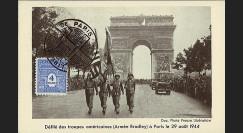 W2-FR627-C1 : 1944 - CM 'Libération de Paris' TP YT 627