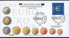 PE445-5 : 2002 - FDC 1er Jour TP 'Introduction de l'Euro' - Allemagne