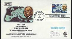 PE343 : 1997 - FDC USA '50e anniversaire du Plan Marshall'