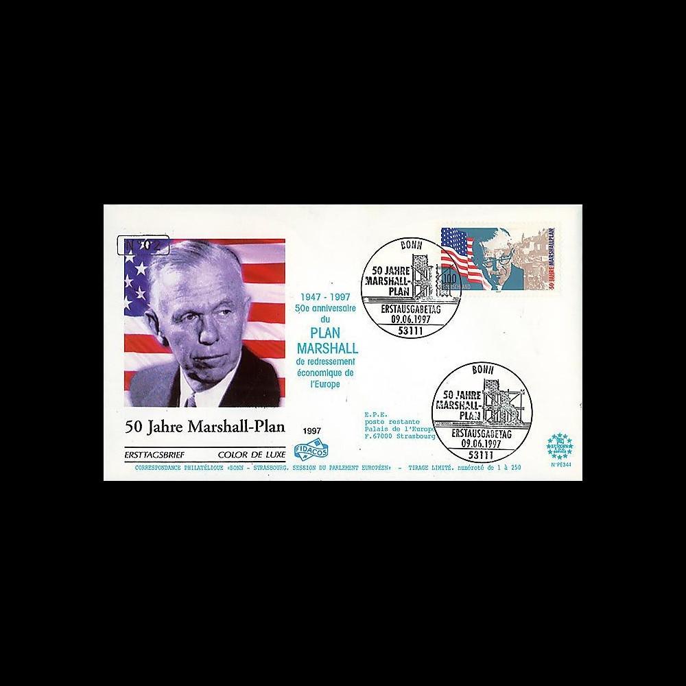 PE344 : 1997 - FDC ALLEMAGNE '50e anniversaire du Plan Marshall'