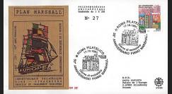 PE353 : 1997 - FDC ITALIE '50e anniversaire du Plan Marshall'