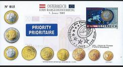 PE445-7 : 2002 - FDC 1er Jour TP 'Introduction de l'Euro' - Autriche
