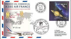 A380-89T1 : 2009 - Pli '1er vol commercial Paris-NY du 1er A380 Air France'