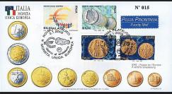 PE445-10 : 2002 - FDC 1er Jour TP 'Introduction de l'Euro' - Italie