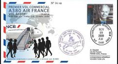 A380-91T3 : 2009 - Pli '1er vol commercial NY-Paris du 1er A380 Air France'