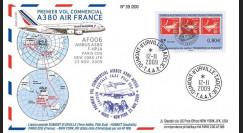 A380-90T1 : 2009 - Pli TAAF '1er vol commercial Paris-NY A380 Air France'