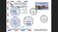 A380-90T2 : 2009 - Pli TAAF '1er vol commercial Paris-NY A380 Air France'