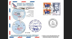 A380-90T3 : 2009 - Pli TAAF '1er vol commercial Paris-NY A380 Air France'