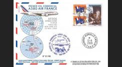A380-90T4 : 2009 - Pli TAAF '1er vol commercial Paris-NY A380 Air France'