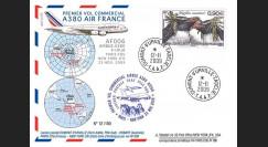 A380-90T6 : 2009 - Pli TAAF '1er vol commercial Paris-NY A380 Air France'