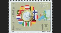 PE570-BU-N : 2009 - 1 valeur TP Bulgarie '10 ans de l'Euro'