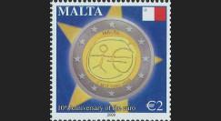 PE570-MA-N : 2009 - 1 valeur TP Malte '10 ans de l'Euro'