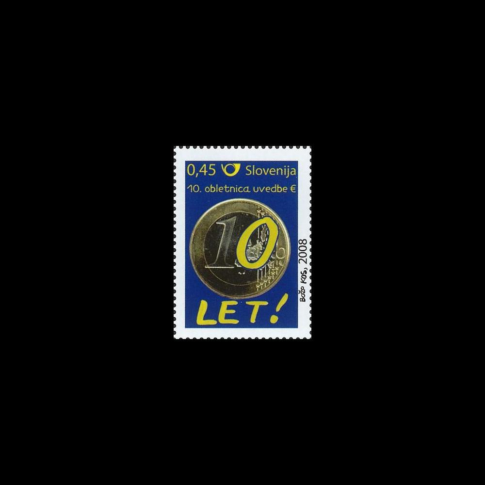 PE570-SLOVE-N : 2009 - 1 valeur TP Slovénie '10 ans de l'Euro'