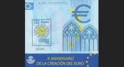 PE570-ESP-B : 2009 - Bloc Espagne '10 ans de l'Euro'
