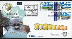 PE445-12 : 2002 - FDC 1er Jour TP 'Introduction de l'Euro' - Pays-Bas