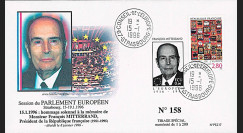 """PE317A : 01-1996 - FDC Parlement européen """"Hommage à M. François MITTERRAND"""