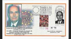 """PE317B : 01-1996 - FDC Parlement européen """"Hommage à François MITTERRAND"""