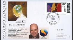 PE583 : 2009 - FDC Session PE 'Remise du prix Sakharov pour la liberté d'esprit'