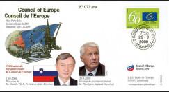 CE60-IV : 2009 - FDC session CE 'Election du Secrétaire général M. Thorbjørn Jagland'