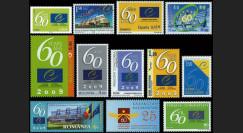 CE60-COL : 2009 - Collection de 12 TP '60e anniversaire du Conseil de l'Europe'