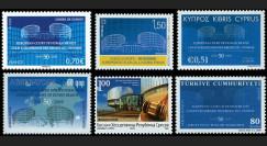 CDH50-COL : 2009 - Collection de 6 TP '50e anniversaire de la Cour européenne des Droits de l'Homme'