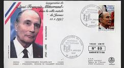 PE332-3 : 1997 - 1er Jour TP hommage à Mitterrand - Jarnac