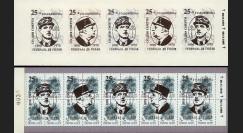 """DG95-RU1C : 1995 - Carnet ex-URSS """"25 ans mort de Gaulle"""" - 3k surcharge normale"""