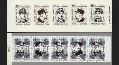 """DG95-RU2CR : 1995 - Carnet ex-URSS """"25 ans mort de Gaulle"""" - 2k surcharge renversée"""