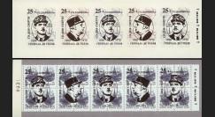 """DG95-RU2C : 1995 - Carnet ex-URSS """"25 ans mort de Gaulle"""" - 4k surcharge normale"""