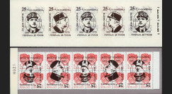 """DG95-RU3CR : 1995 - Carnet ex-URSS """"25 ans mort de Gaulle"""" - 5k surcharge renversée"""