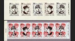 """DG95-RU3C : 1995 - Carnet ex-URSS """"25 ans mort de Gaulle"""" - 5k surcharge normale"""