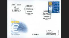 PE570-LUX : 2009 - FDC Luxembourg '1er Jour TP 10 ans de l'Euro'