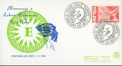 FD65 : 1966 - FDC Hommage à Schuman - Inauguration Salle de l'Europe