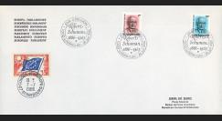 PE116Aa : 1986 - Env. de service PE 1er Jour du TP du Luxembourg 'Schuman'