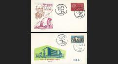 LUX3 : 1960 - 2 FDC 1er Jour TP Luxembourg '20e anniversaire Plan Schuman'