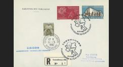 LE21Ca : 1960 - Env. de service RECO 1er Jour Luxembourg - CE '20e anniversaire Plan Schuman'
