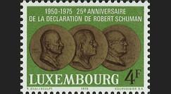 LUX12 : 1975 - Timbre-poste Luxembourg '25 ans Déclaration Schuman'