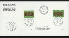 LUX12La : 1975 - Env. de service Parlement eur. '25e anniversaire Déclaration Schuman'