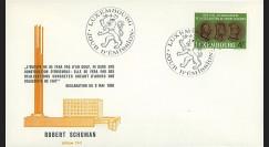 LUX12a : 1975 - FDC Luxembourg 1er Jour TP '25e anniversaire Déclaration Schuman'