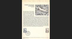 FE29DOa : 1975 - Document historique Musée postal - 1er Jour TP 'Schuman