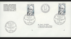 FE29Ca : 1975 - Env. de service Parlement eur. 1er Jour TP 'Schuman