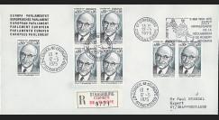FE29Ea : (AP124a) 1975 - Env. de service PE 1er Jour TP 'Schuman